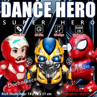 Robot Hero Dance – Người sắt nhảy múa – Người nhện robot nhảy múa – Dance Iron Man Marvel Avengers – Loại 1