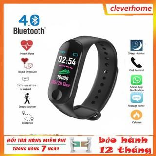 Vòng Đeo Tay đồng hồ  thông minh theo dõi sức khỏe đo nhịp tim huyết áp M3  với độ chính xác cao