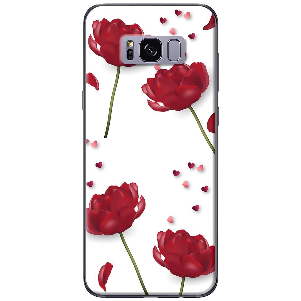 Ốp lưng Samsung S8/S8 plus Hoa trắng nền đen