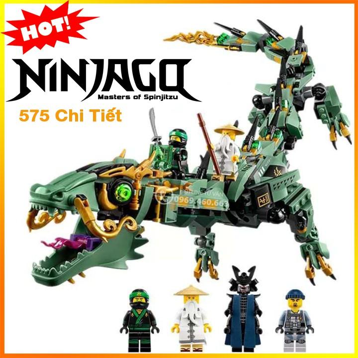 Đồ chơi lắp ráp xếp hình LEGO NINJAGO 70612 ZIMO 4012 Rồng Máy Xanh Khổng Lồ Của Các Ninja - 575 Chi Tiết