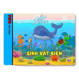 Sách vải cho bé chơi mà học Pipo – Sinh vật biển