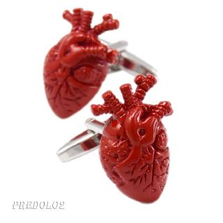 MagiDeal ANATOMICAL HEART CUFFLINKS Red GIFT BAG Doctor Surgeon Cardiologist