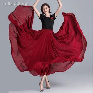 đầmváy khiêu vũ 720 độ Nữ Tân Cương múa sợi voan dài rộng cổ điển thanh lịch thử nghệ thuật thumbnail