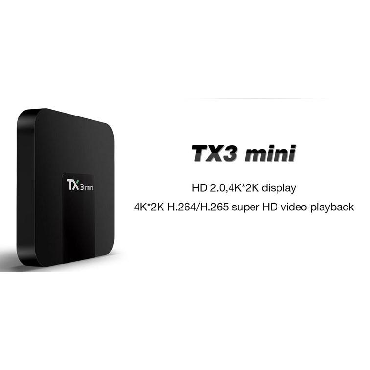 Android Tivi Box Tx3 Mini Ram CPU S905 - Ram 2GB, Rom 16GB - Android 9.0 Bluetooth Wifi 5.0