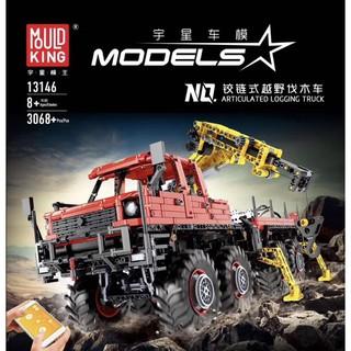 Mould King 13146 Đồ chơi lắp ghép xe tải cẩu ARTICULATED LOGGING TRUCK tương thích với LEGO TECHNIC ĐK từ xa