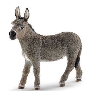 readystock 3.7inch Donkey Wild Life Figurine Toy Animal Figures 13772 New