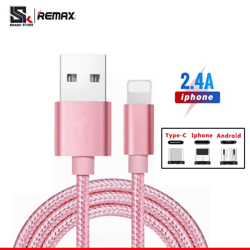 Cáp sạc truyền dữ liệu Remax tốc độ cao cổng Micro USB cho dòng Android iOS