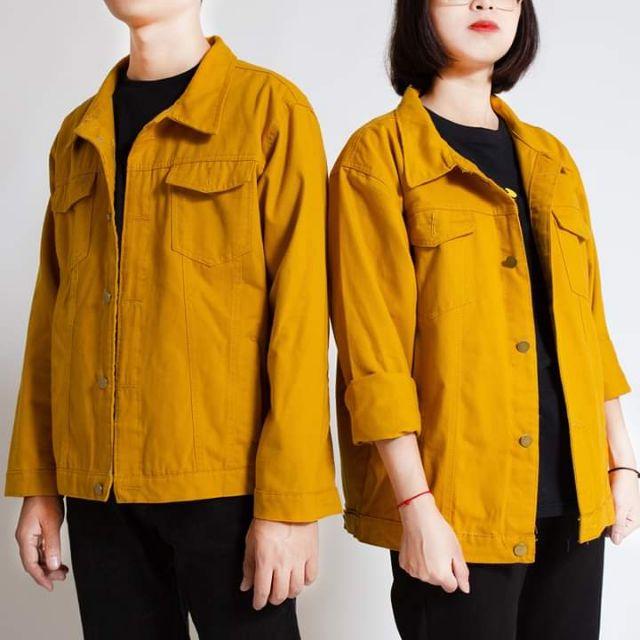 Áo Khoác Kaki Jean Nam Nữ Mặc Cặp Đôi Cực Đẹp