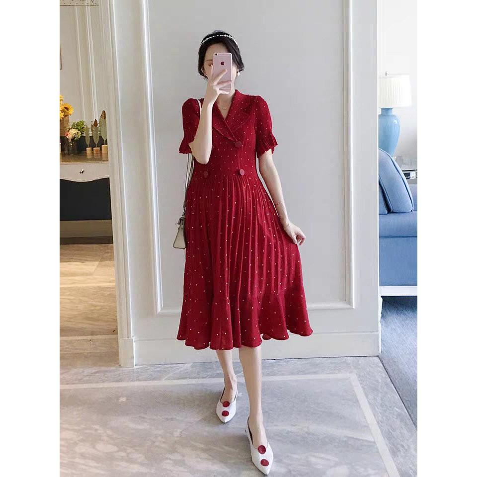 Mặc gì đẹp: Dễ chịu với [Siêu sale]Váy bầu đầm bầu cao cấp☘️chất voan mát mềm mịn💕thiết kế sang chảnh🌸mặc đi làm đi chơi đều đc
