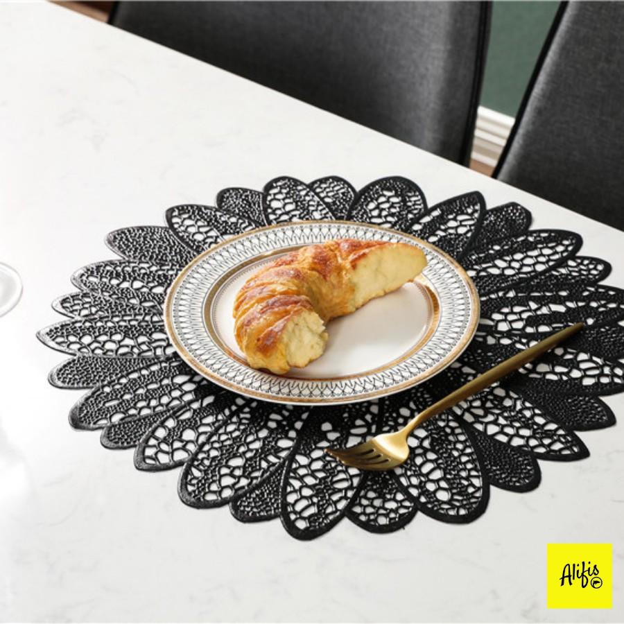 Tấm lót bàn ăn, bàn cafe, bàn họp hình hoa sang trọng – cách nhiệt – dùng cho bàn ăn gia đình, nhà hàng, khách sạn