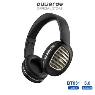 Tai Nghe Pulierde BT031 Bluetooth 5.0 Stereo Có Thể Bẻ Cong Nhẹ Giắc Cắm 3.5mm Tích Hợp Đài FM Và Hỗ Trợ Thẻ TF