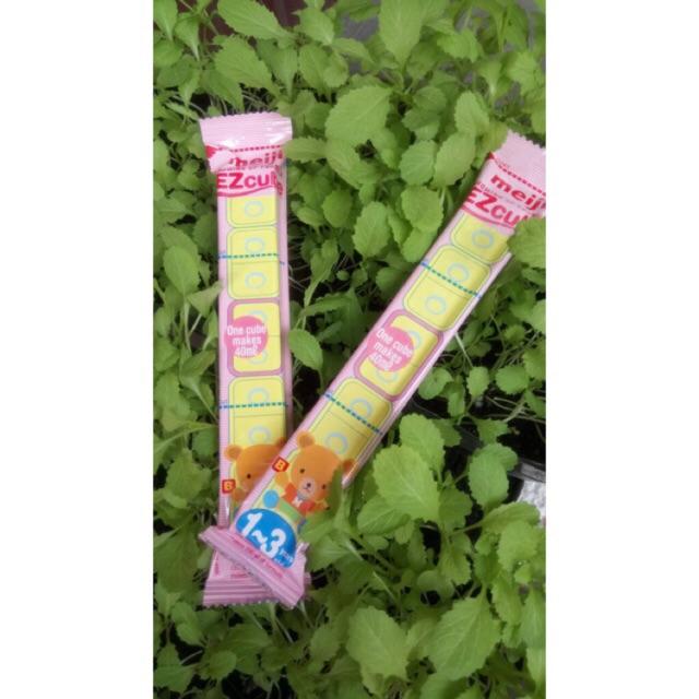 1 thanh Sữa meiji nhập khẩu Nhật 1-3 28gr0