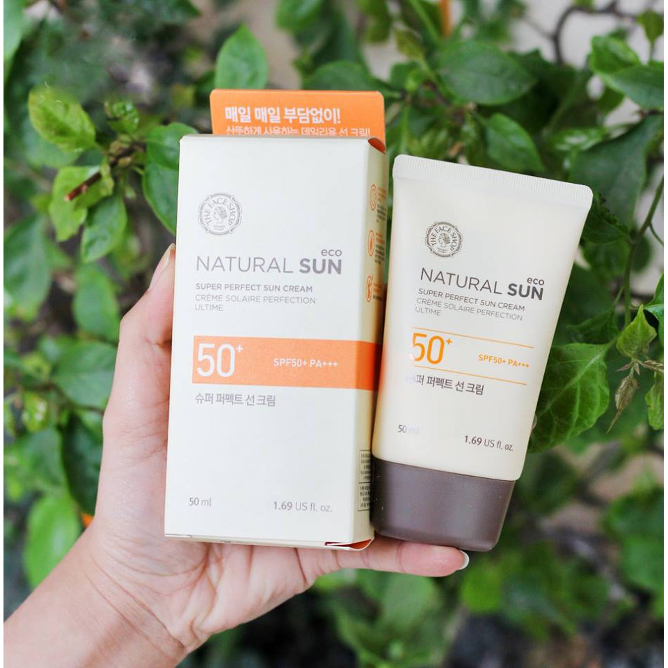 Kem Chống Nắng ThFaceShop Natural Sun Eco SUPER PERFECT Sun Cream SPF50 PA+++