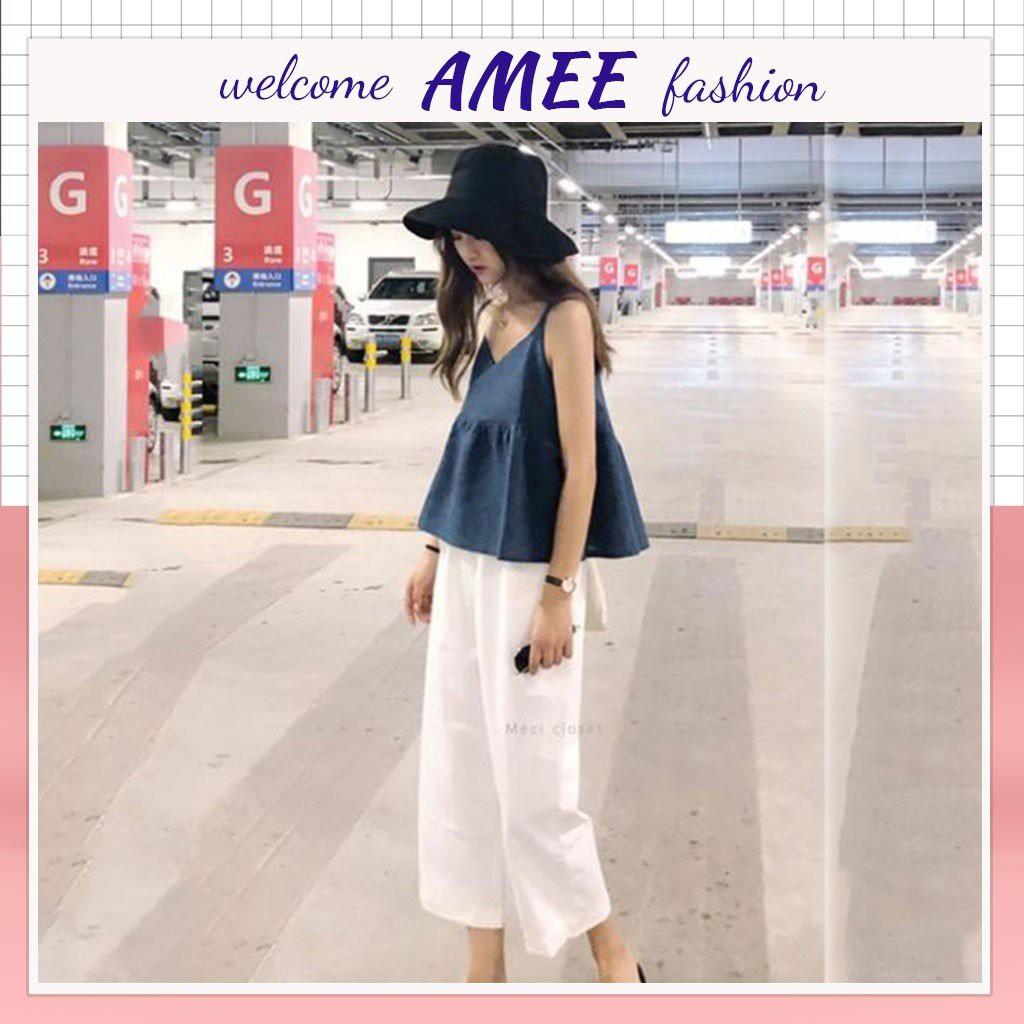 Quần xuông đũi ống rộng siêu HoT Amee Fashion