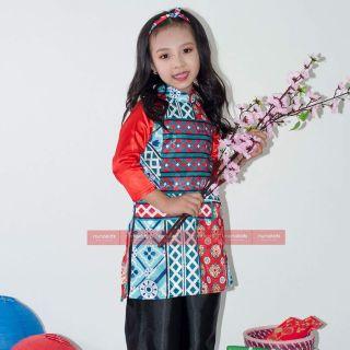 Set Áo dài gạch bông cô Ba Sài Gòn ( kèm quần và tuban)