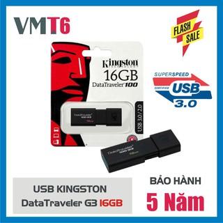 USB Kingston 3.0 DataTraveler 100G3 16GB - Hàng nhập khẩu bảo hành 5 năm!