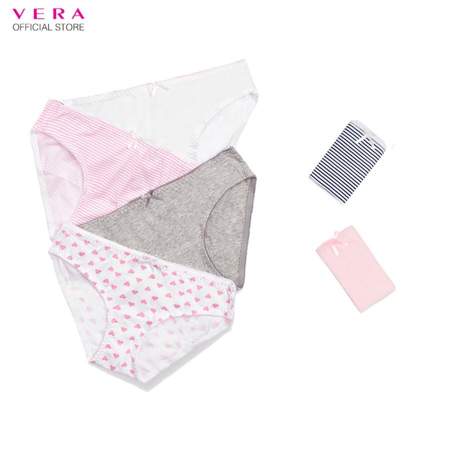 Combo 06 quần lót nữ cotton Modern Brief có họa tiết VERA 8398