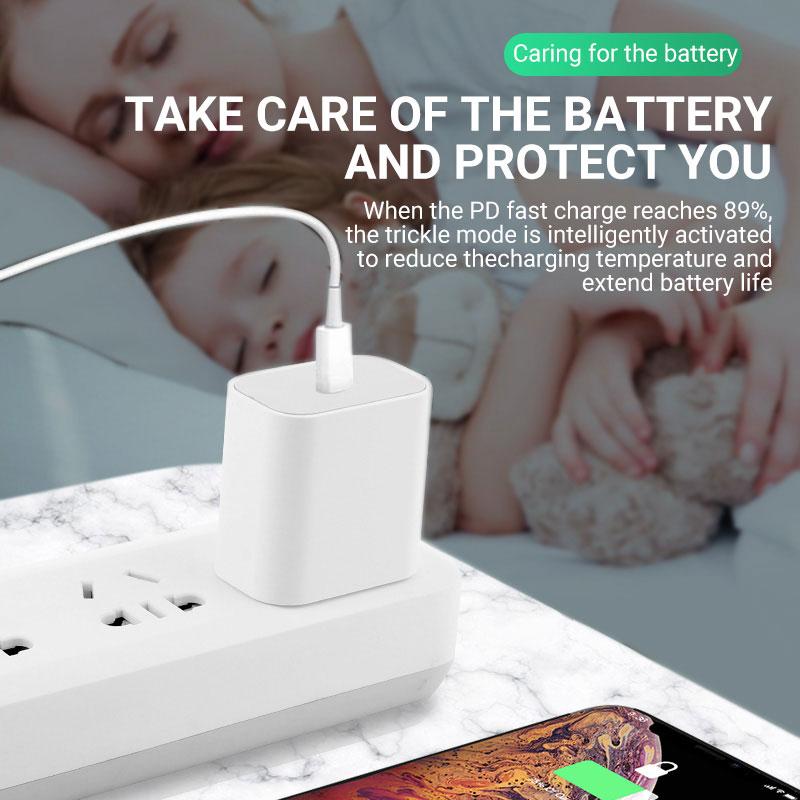 Củ Sạc Nhanh/ Dây Cáp Sạc KCO PD13 20W PD Type C USB C Sang Lightning 6ft Cho Iphone 12/ 11/ XS/ XR/ X 8/ SE2020 Ipad