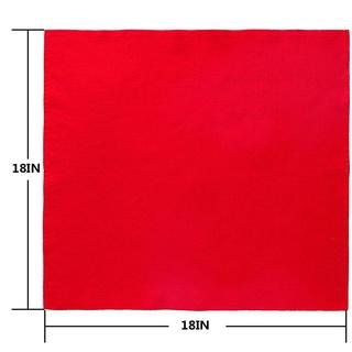 Khăn ăn bằng vải lanh mềm màu đỏ trơn có thể giặt sạch dùng trang trí bàn tiệc cưới / khách sạn - hình 2