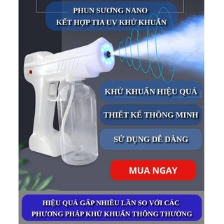 [BẢO HÀNH 12 THÁNG] SÚNG XỊT KHỬ KHUẨN NANO 8 ĐẦU - Súng xịt cồn cao cấp, khử trùng, khử mùi - An toàn tiện lợi thumbnail
