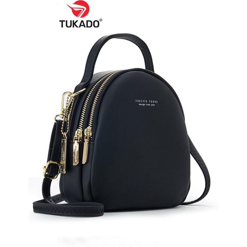 Balo Nữ Mini Thời Trang FORVER YOUNG Da Mềm Nhiều Ngăn Tiện Dụng FY04 - Tukado