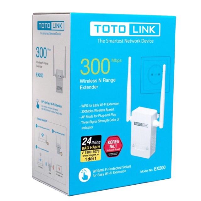 Totolink EX200 - Bộ mở rộng sóng wifi chuẩn nhất - Tốc độ 300Mbps