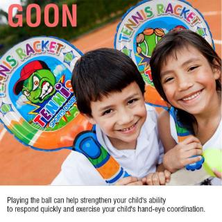 Goon 2pcs Tennis Rackets Light Weight Inflatable Children Racket+Inflatable Ball Child Favorite Hot Toys Kid Outd