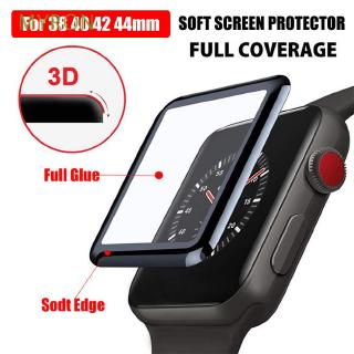 MYRON Black Anti-scratch 3D Curved HD Full Cover for Apple iWatch 4 3 2 1