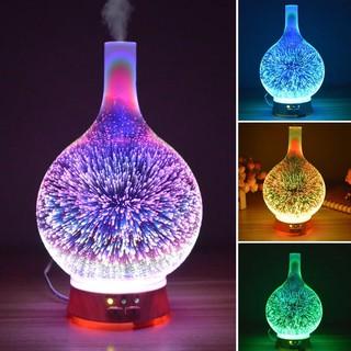 Máy phun sương tạo ẩm xông tinh dầu 3D đèn nhiều màu