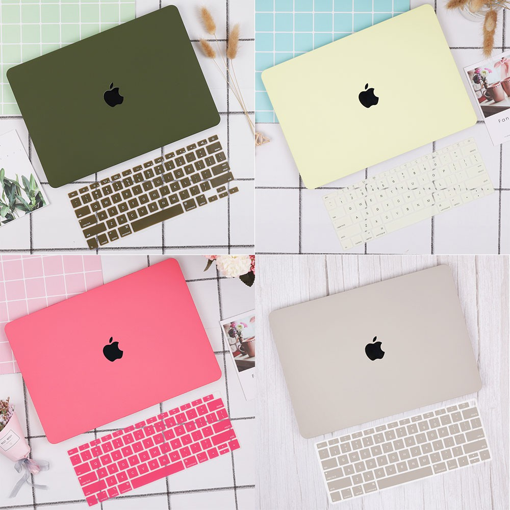 Lastest Cream Protective Hard Plastic Hollow Logo Case Shell For New Apple Macbook Air 13 A1932 Pro 13 15 Keyboard Cover