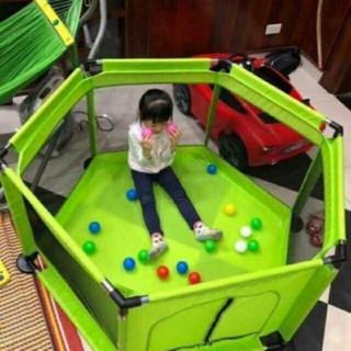 nhà bóng lục giác nhiều mẫu chất inox size đại có tặng kèm 15 bóng nhựa cao cấp 7 màu cho bé