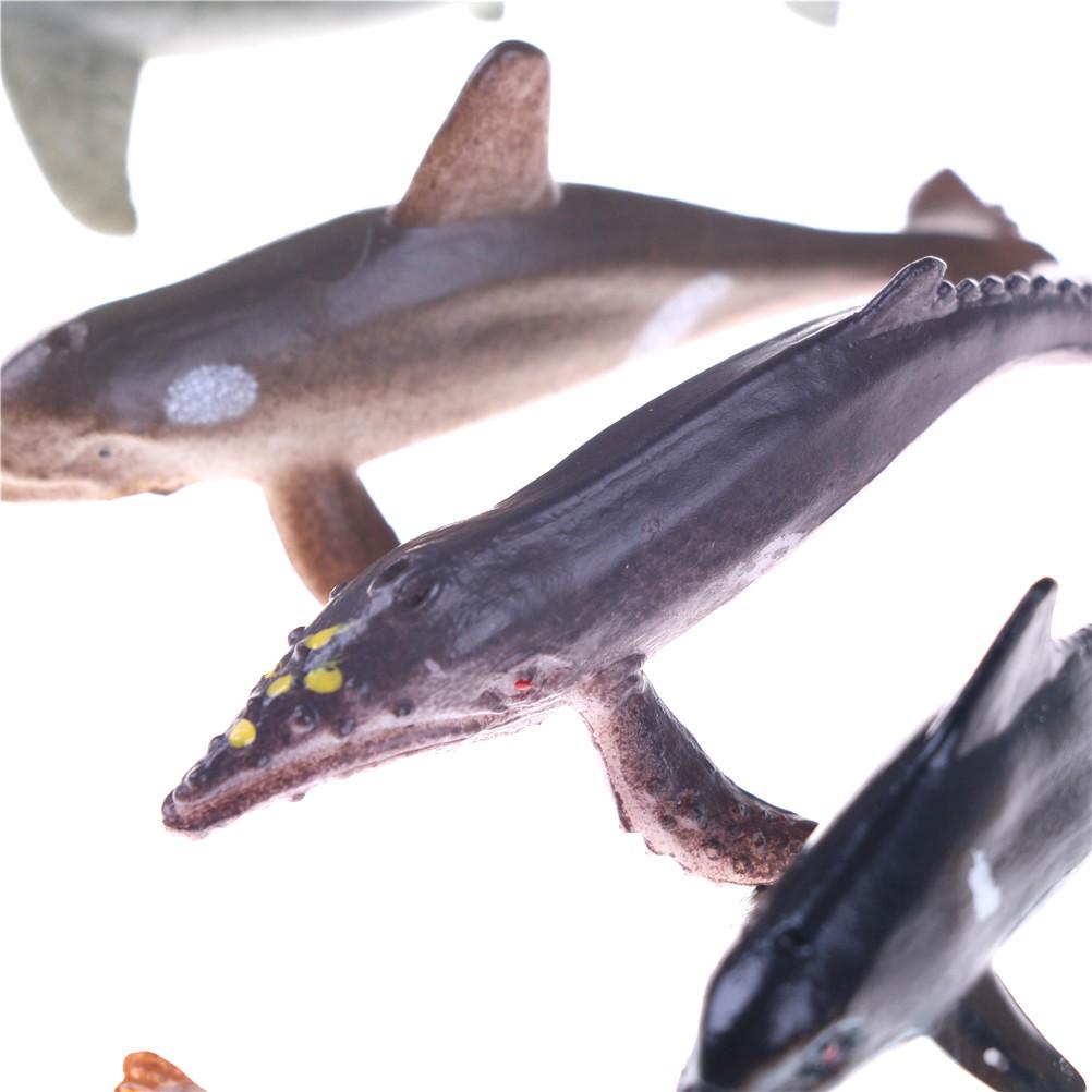HBVN 12pcs/set Plastic Marine Animal Model Toy Figure Ocean Creatures Model toy