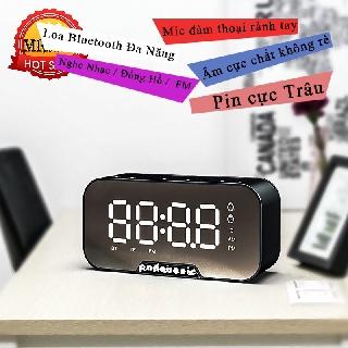 [ Bảo Hành ] Loa Bluetooth Padabanic MP3  Đa Năng Kiêm Đồng Hồ Báo Thức Nghe Đài FM Pin 1400mAh Nghe Nhạc ~8 Tiếng