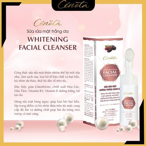 Sữa rửa mặt trắng da Cénota Whitening Facial Cleanser 150ml, sữa rửa mặt trắng da dưỡng trắng - mã C03 Shino_cosmetic