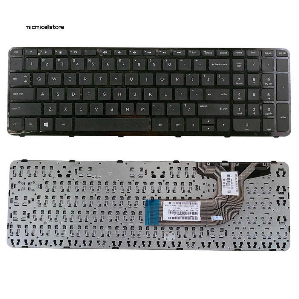 MIC≈Replacement US Version PC Laptop Keyboard with Frame for HP 15-g275nr/15-f211wm