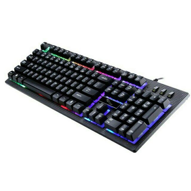 Combo 17 bàn phím chuyên game G20 giả cơ led 7 màu