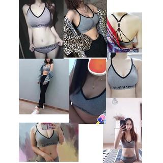 Bra Briefs Sports Underwear Set Women Lingerie Push Up Active Bra