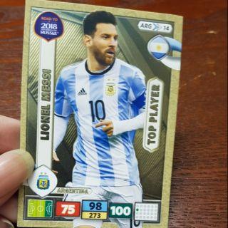 Panini adrenalyn XL RTWC Messi Top player ( thẻ cầu thủ )