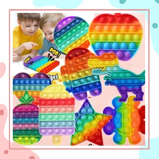 Pop It Fidget Toy, Đồ chơi Pop It bấm nút bóp bóng thông minh giảm stress, căng thẳng bằng silicon an toàn cho trẻ em thumbnail