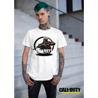 Áo thun Cotton Unisex - Game - Call Of Duty - Logo game call of duty Black OPS II