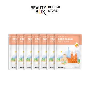 Combo 7 Mặt Nạ Beauty Box Real Juicy Pore Caring Face Mask (20gx20) thumbnail