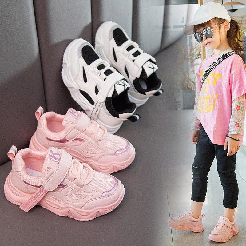 Giày thể thao bé trai và bé gáicao cấp từ 3 - 14 tuổi siêu nhẹ đàn hồi kháng khuẩn kiểu dáng thời trang G25