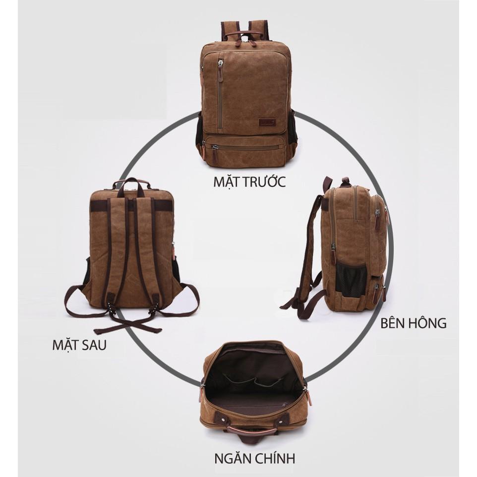 Balo nam thời trang THE GLEN TG410 Balo du lịch nam đa năng đựng laptop 15 inch