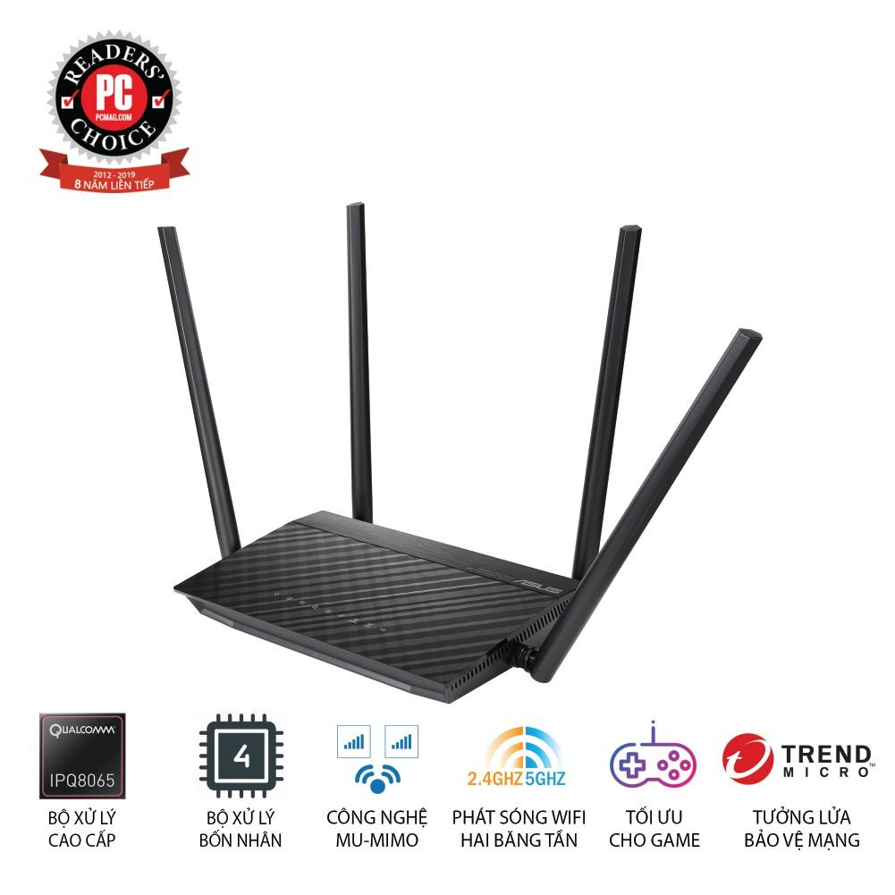 Router Wifi băng tần kép ASUS RT-AC1500UHP