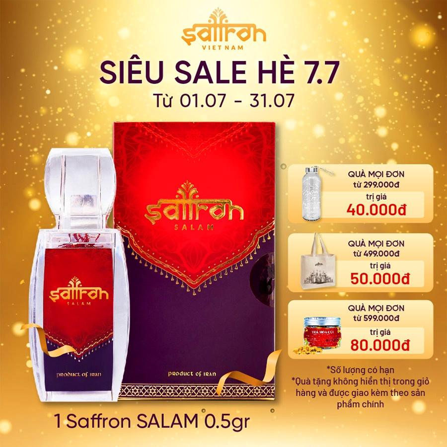 Nhụy Hoa Nghệ Tây Saffron Salam 0.5Gram/hộp