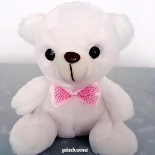 Birthday Wedding Decoration Children Gift Plush Bowknot Cute Colorful LED Bedroom Cartoon Bear Doll