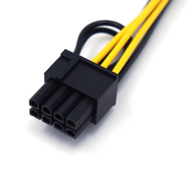 Dây Cáp Chuyển Đổi Nguồn Điện 6 Pin Sang 6 Pin Đầu Cắm Gpu 18awg Chuyên Dụng