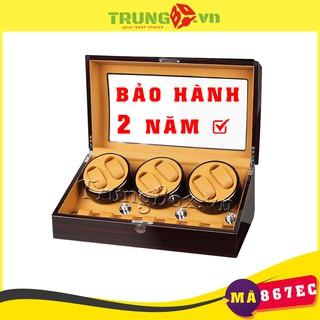Hộp Đựng Đồng Hồ Cơ 6 Xoay 7 Tĩnh Vỏ Gỗ Sơn Mài - Mã 867EC thumbnail