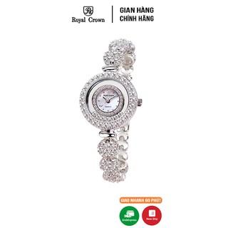Đồng hồ nữ chính hãng Royal Crown 5308 Jewerry Watch vỏ trắng thumbnail