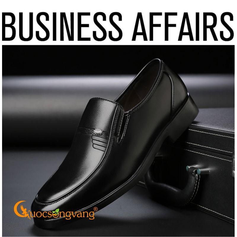 Giày da nam công sở big size giày lười nam size lớn màu đen GLG104 Cuocsongvang